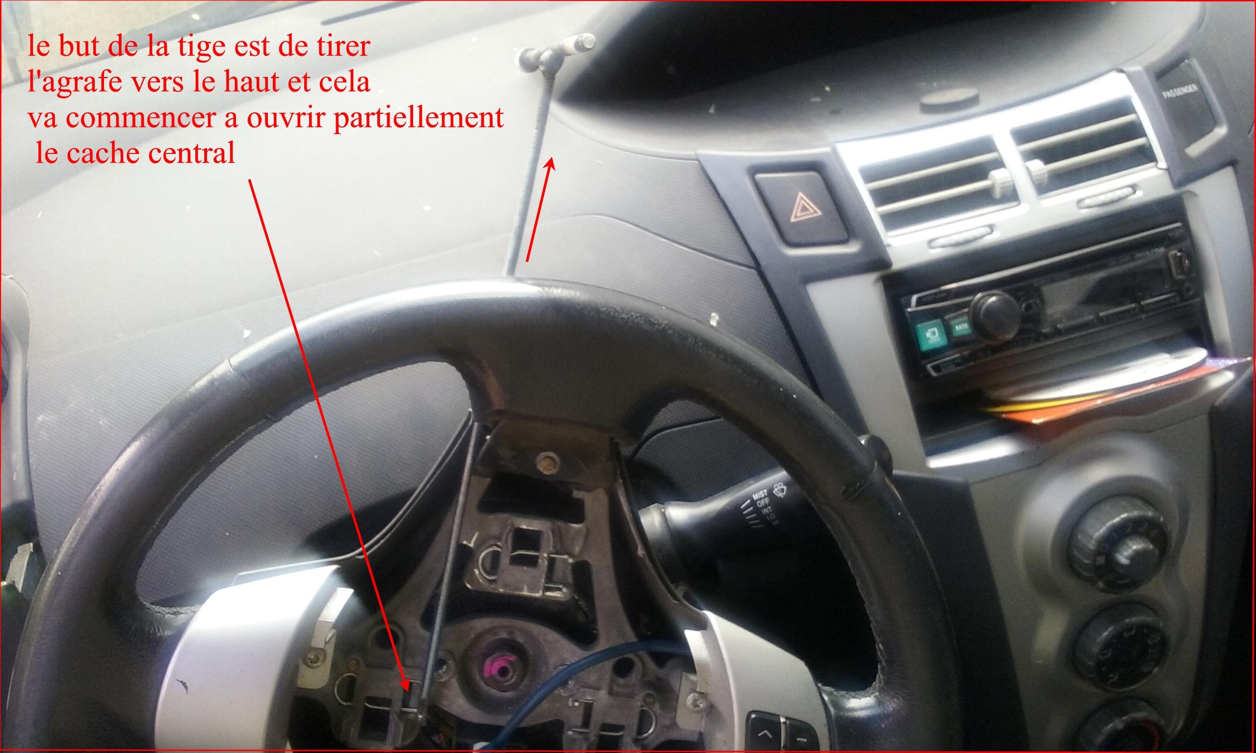 Demonter volant yaris 2007 pour le renover auto titre for Enlever de l huile sur du cuir