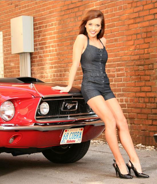 Not deceived hot girls and mustang cars