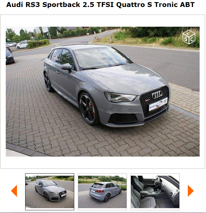 future audi rs3 sportback page 11 auto titre. Black Bedroom Furniture Sets. Home Design Ideas