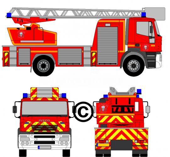 V hicules des pompiers fran ais page 1188 auto titre - Dessiner un camion de pompier ...