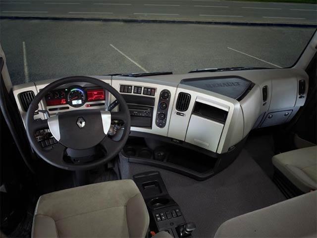 Nouveau renault premium auto titre for Interieur camion renault t