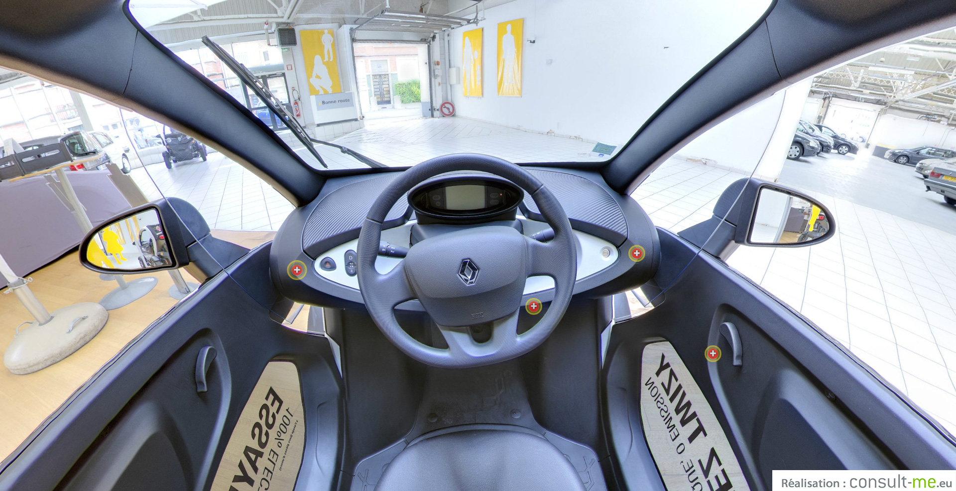 twizy en visite virtuelle photo 360 auto titre. Black Bedroom Furniture Sets. Home Design Ideas