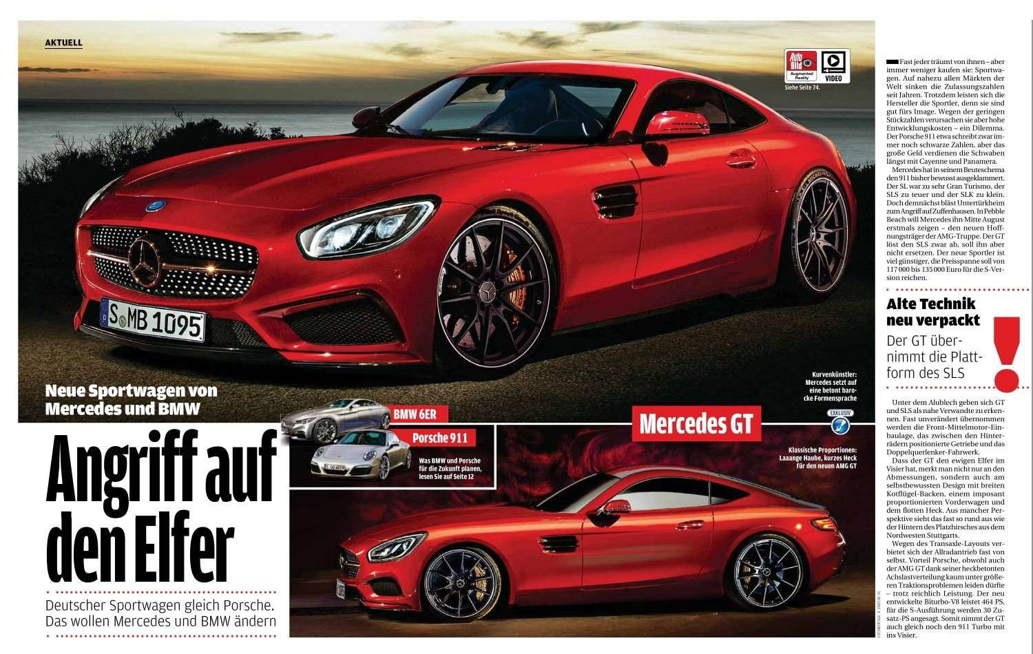 mercedes amg gt coup roadster 2014 auto titre. Black Bedroom Furniture Sets. Home Design Ideas