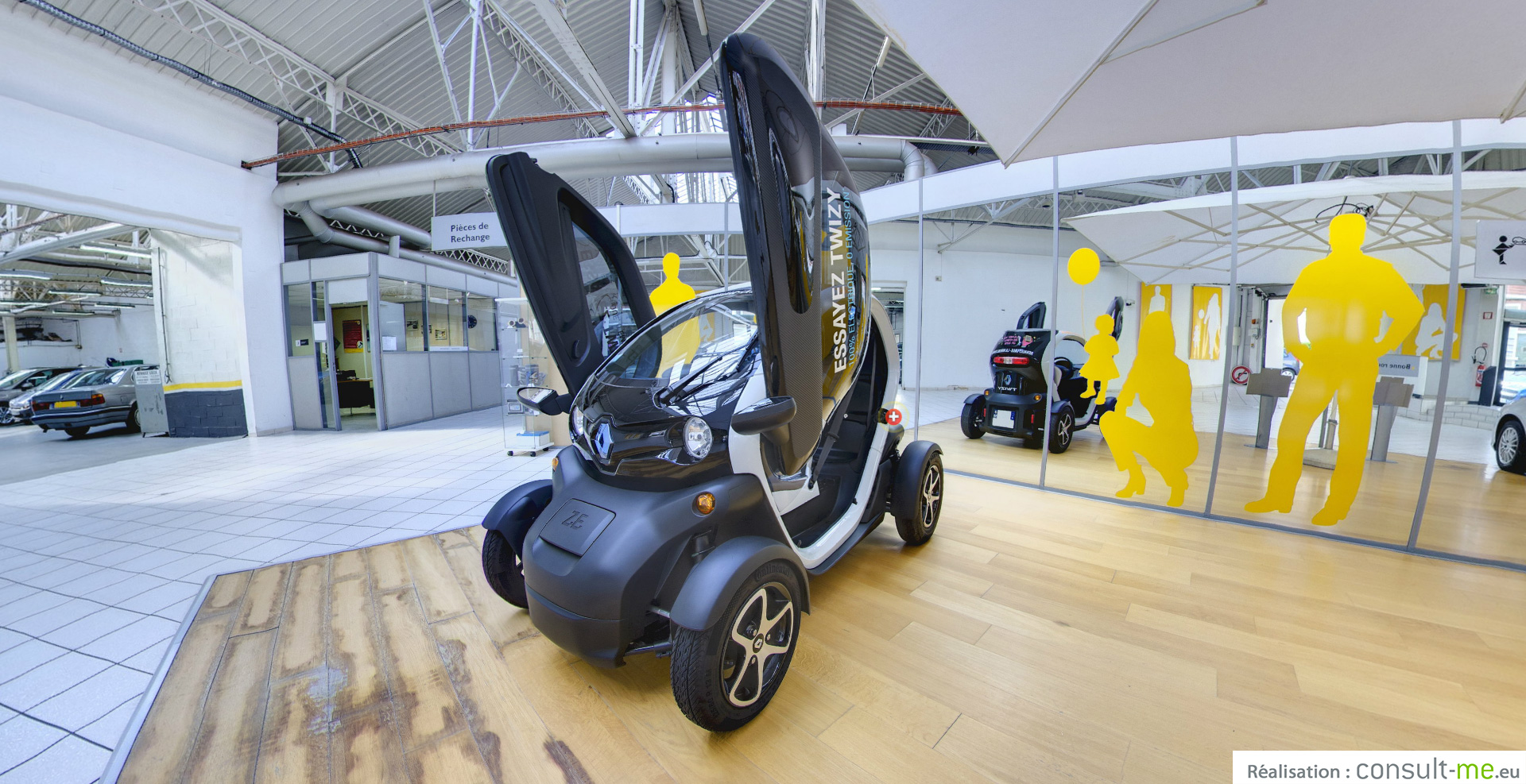 twizy en visite virtuelle photo 360 auto titre. Black Bedroom Furniture Sets. Home Design Ideas