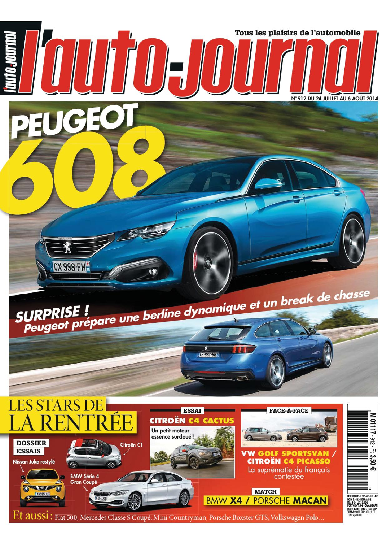 peugeot 608 dans l 39 auto journal page 2 auto titre. Black Bedroom Furniture Sets. Home Design Ideas