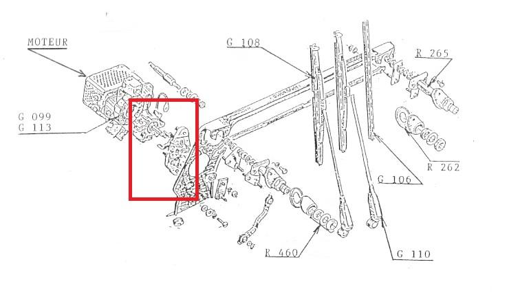mecanisme essuie glace renault floride caravelle