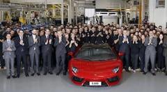 Lamborghini : 5000 Aventador produites