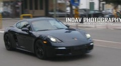 Le futur Porsche 718 Cayman surpris en Italie