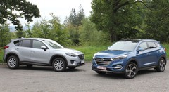 Essai Hyundai Tucson 2.0 CRDi 136 vs Mazda CX-5 2.2 SkyActiv-D 150 : Touché en plein cœur