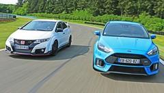Essai Honda Civic Type R vs Ford Focus RS : Sportives de l'année