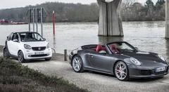 Essai Porsche 911 contre Smart Fortwo : Vent arrière
