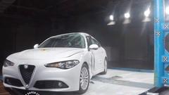 La Giulia 2016 décroche cinq étoiles à l'EuroNCAP