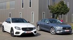 Essai Mercedes E 220d vs Volvo S90 D4 : Chefs de files