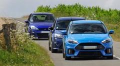 Reportage-comparatif : la trilogie Ford Focus RS