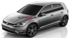 Volkswagen Golf 7 restylée (2017) : des clichés en fuite sur Internet