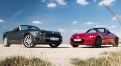 Essai comparatif Fiat 124 Spider vs Mazda MX-5 : les sœurs ennemies