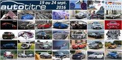 Les titres de l'actualité auto du 19 au 24 septembre 2016