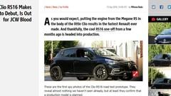 Renault : premiers tours de roues pour la Clio RS 16