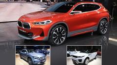 Le BMW X2 face aux Mercedes GLA et Range Rover Evoque