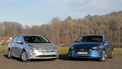 Essai Toyota Prius vs Hyundai Ioniq Hybrid, la référence contre un challenger de poids