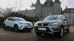 Essai Seat Ateca vs Toyota C-HR : Deux visions du crossover compact