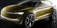 """Skoda Vision E : un concept de """"SUV-coupé"""" électrique à Shanghai"""