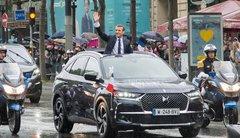 Premiere sortie du président Macron en SUV DS 7 crossback