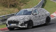 L'Audi Q8 filmé sur route et sur piste