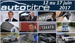 Les titres de l'actualité auto du 12 au 17 juin 2017