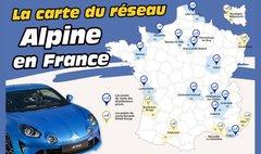 Alpine A110 : La carte et les adresses des 19 distributeurs Alpine