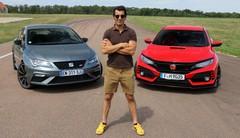 Essai Honda Civic Type R vs Seat Leon Cupra par Soheil Ayari : différence de style