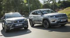 Essai comparatif SUV : le Jeep Compass 2017 défie le Seat Ateca !