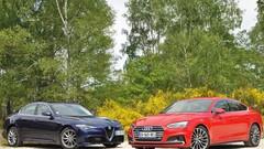 Essai Alfa Romeo Giulia Veloce et Audi A5 Sportback : plaisir intégral