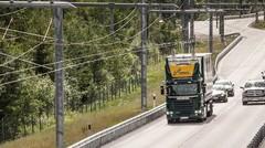 L'Allemagne expérimente une autoroute électrique à caténaire