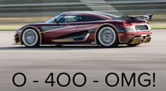 0-400-OMG ! Koenigsegg, avec une Agera RS, fait mieux que Bugatti avec sa Chiron