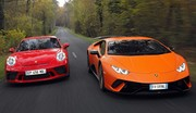 Essai Lamborghini Huracán Performante vs Porsche 911 GT3 : The Voice Cars