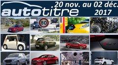 Résumé Auto Titre du 20 nov. au 02 déc. 2017