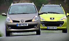 Comparatif Peugeot 207 SW vs Renault Clio Estate : De sacrés sacs à dos