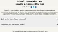 Prime à la conversion : le gouvernement a lancé une plateforme Internet dédiée