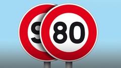80 km/h sur les routes secondaires à double sens, à partir du 1er juillet 2018