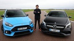 Essai Ford Focus RS vs Mercedes Classe A45 AMG par Soheil Ayari : baroud d'honneur