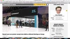 Renault ouvre son premier store dédié au véhicule électrique
