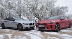 Essai Kia Stinger GT et BMW 440i Gran Coupé : belles et rebelles
