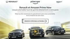 """Renault lance les """"essais à domicile"""" avec Amazon"""