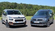 Essai Citroën Berlingo vs Volkswagen Caddy : changement d'époque