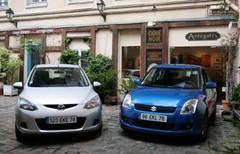 Essai Mazda 2 1.4 MZ-CD vs Suzuki Swift 1.3 DDIS: fashion victim