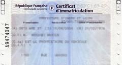 Carte grise expédiée à domicile : redevance à payer dès janvier 2009