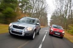 Essai Peugeot 3008 2.0 HDI 150 ch vs Skoda Yeti 2.0 TDI 170 ch 4x4 : Le bonheur est dans le pré