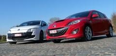 Essai Mazda 3 MPS vs Renault Mégane RS : Les turbulentes !