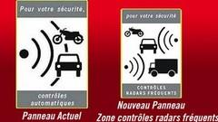 Sécurité Routière : de nouveaux panneaux de signalisation dans les zones radars
